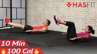 10 Minute Abs Workout for Women & Men at Home - 10 Min Ab Workout with No Equipment