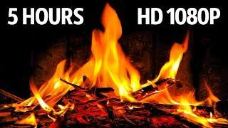 Relaxing Fireplace HD 1080p Video | 5 HOURS | Best Fireplace Sound
